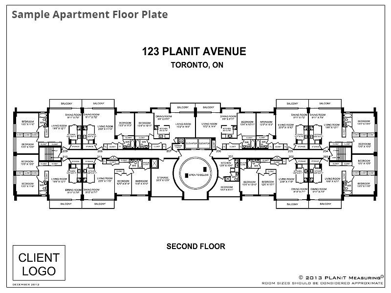 Sample Apartment Floor Plate