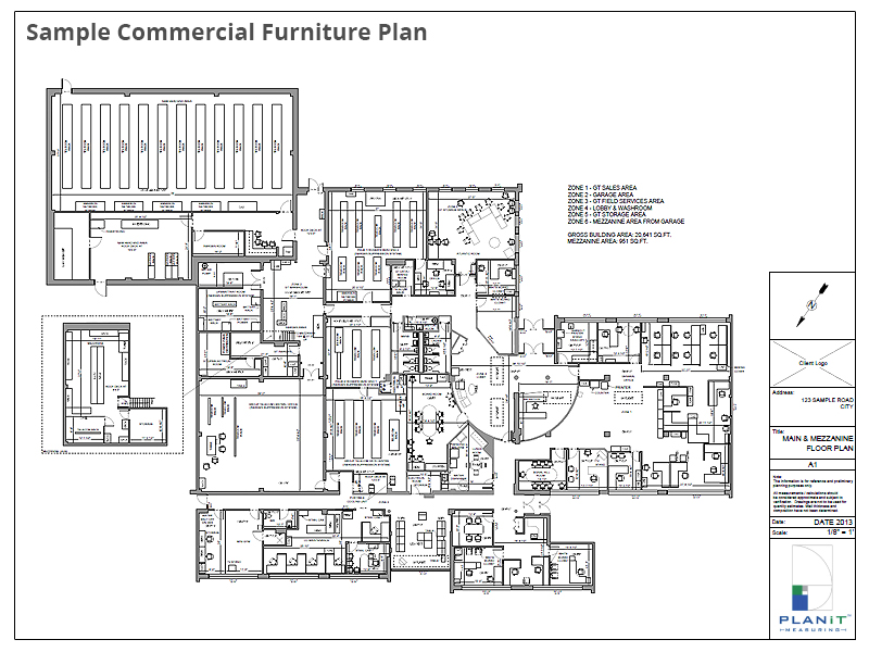 Sample Commercial Furniture Plan