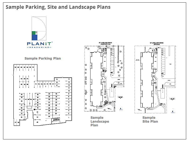 Sample Parking, Site and Landscape Plans
