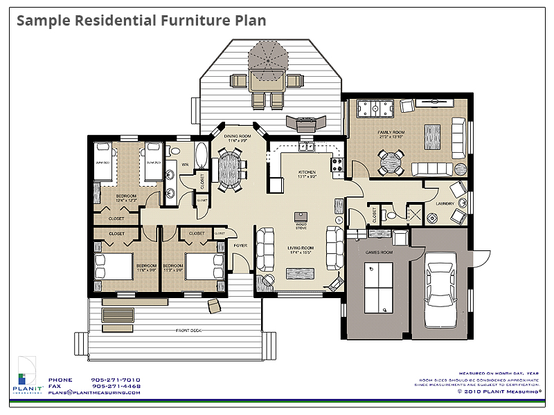 Sample Residential Furniture Plan