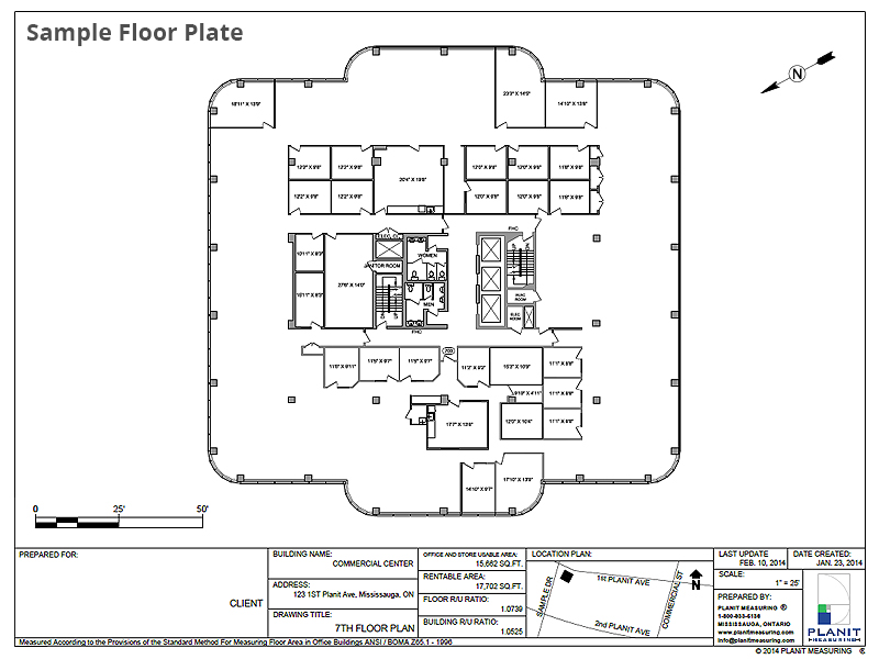 Sample floor plan of commercial building for Commercial building floor plan