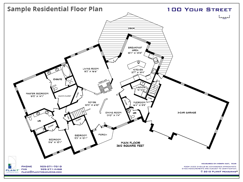 Sample Residential Floor Plan
